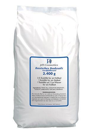 Basisches Badesalz groß - Nachfüllpack 2400 g